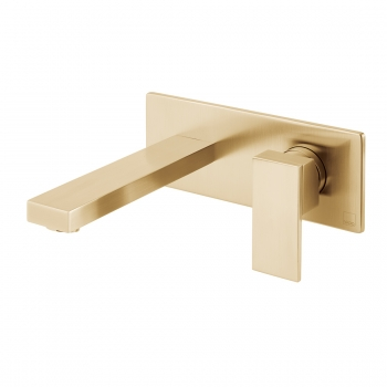 NOTION Brushed Gold Wall Mounted Basin Mixer