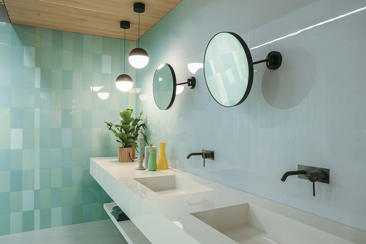 Bathroom In Light Mint Shades