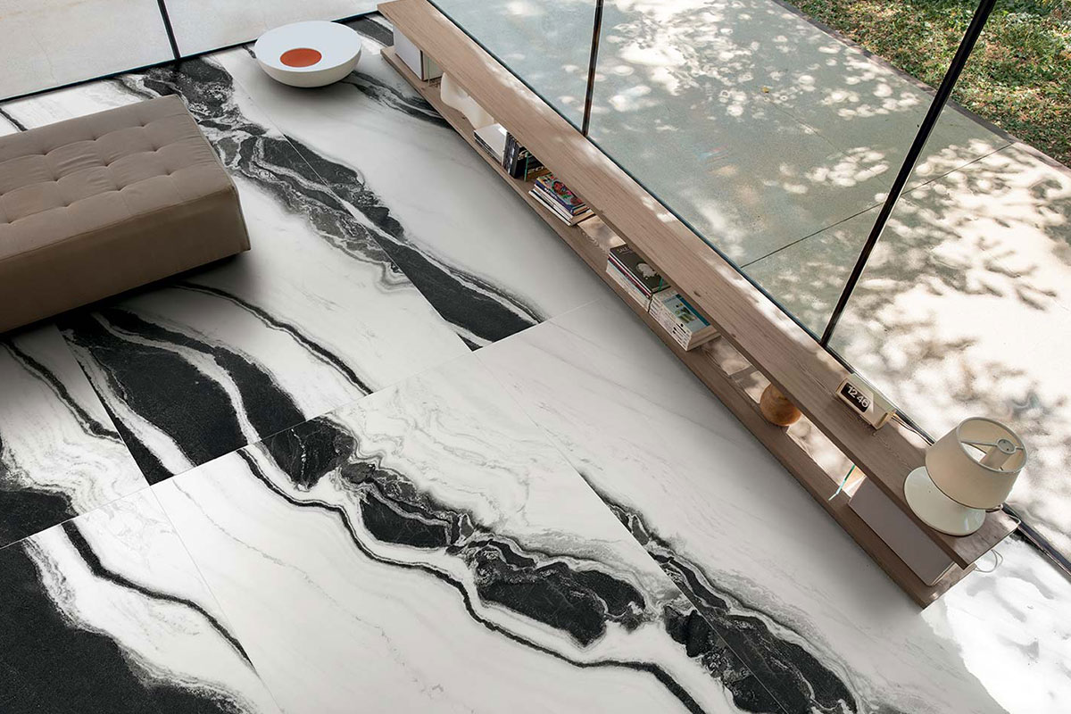 Black And White Marble Effect Floor 1