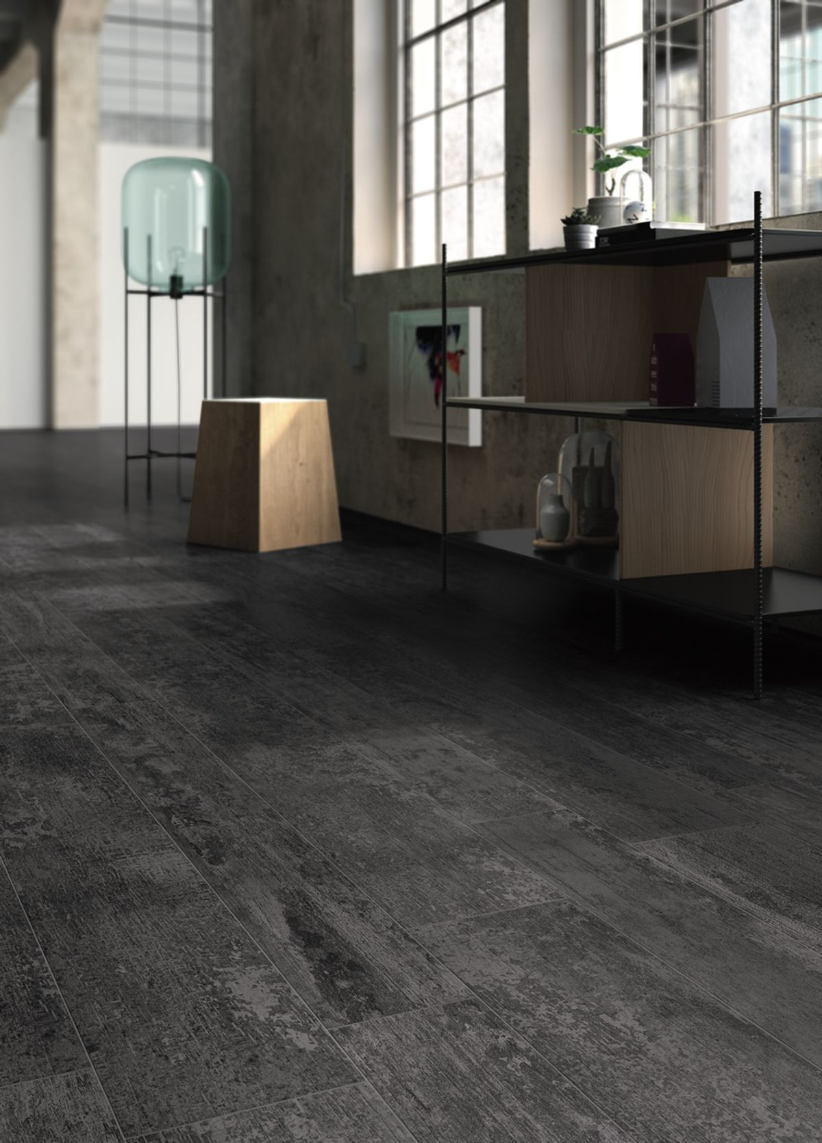 Flooring Antique Wood Black Antique
